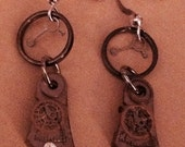 Vintage watch part earrings