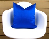 "COBALT Blue Silk Pillow Cover - 18"" - 20"", 22"" - 12"" x 20"", 12"" x 24"", 13"" x 22""  Royal Blue pillow - Cobalt Pillow - Cobalt Toss Pillow"