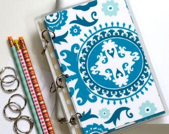 Notebook Binder Journal, 6 x 9, Suzani, Deep Turquoise