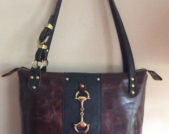 Devon Day handbag in Outlaw leather with D-ring bit