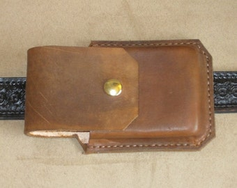 Leather cellphone Case for iphone in Otterbox Hangs Longway