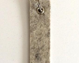 Wool Felt Key Fob : Heather Flax