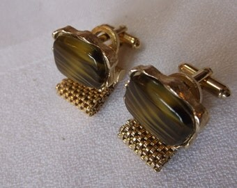 Vintage Dante Mesh Wrap Cuff Links  Father's Day Free Shipping in US
