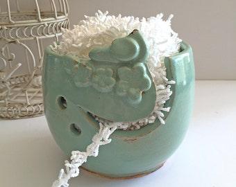 Yarn Bowl Knitting Bowl - Mother's Day Gift-  Ceramic Yarn Bowl Bird Bowl Handmade Pottery IN PRODUCTION