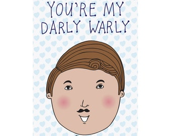 Romantic Card - You're My Darly Warly BOY VERSION
