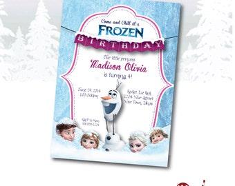 INVITATION: Disney Frozen Birthday