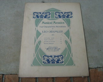 1905 sheet music  (  musical mosaics  ) four characteristic recreations