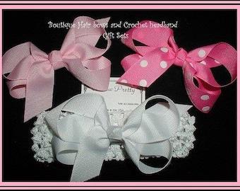 Hair Bow Gift Sets, Baby Headbands, infant headband, Toddler Headband, Baby Shower Gifts, Newborn hair bows, Hair bow gift sets, infant bows