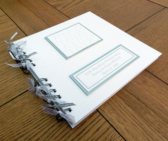 Items similar to th anniversary guest book personalised