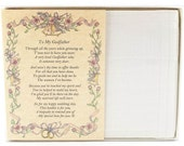 Personalized From the Bride to her Godfather Wedding Handkerchief - BH136