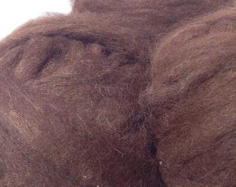 Bittersweet Chocolate Huacaya Alpaca Roving- four ounces