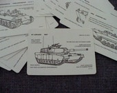 Military Armored Vehicle Recognition Cards - 1984