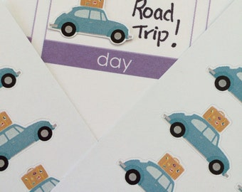 21 Vacation Road Trip Stickers, Plum Paper Stickers, Fits Erin Condren Planner, Stickers, Vacation Stickers