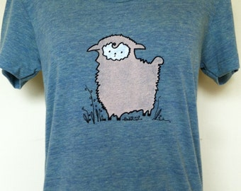 Alpaca T Shirt Womens Slim Style Trilemon Sizes Small through XLarge