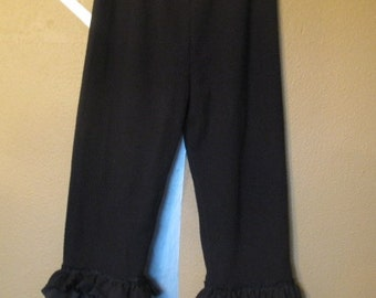 xl large lagenlook bloomers thermal with ruffles plus size
