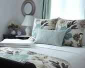 NEW-KRAVET JELLYBEAN- Both Sides- Decorative Designer Pillow Cover - Turquoise/Aqua/Seafoam/Ivory and Neutrals