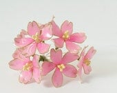 Resin Flower Kanzashi, Floral Hair Accessory, Sakura, Cherry Blossom Hair Stick, Japanese Geisha, Pink