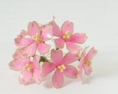 Resin Flower Kanzashi, Floral Hair Accessory, Sakura, Cherry Blossom Hair Stick, Japanese Geisha, Pink