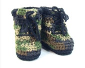 Baby Booties Camo Timberland Style Boots Sizes 0-3months, 3-6months, 6-12 months