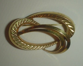 Vintage brooch 1960s Andreas Daub A*D Pforzheim rolled gold fill