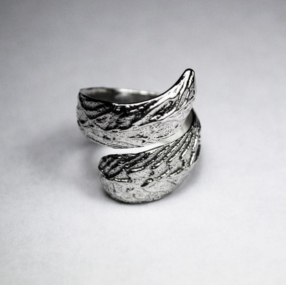 Limited Edition Sterling Silver Cuttlefish Curl Adjustable Wrap Ring