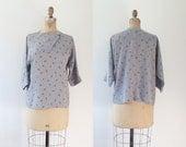 vintage 80s blouse / Geometric blouse / Morse Code blouse