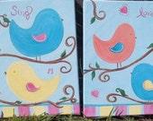 Love Bird Paintings Banana Fish bedding