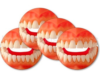Teeth Coasters - Set of 4