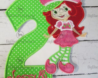 Iron On Applique -  Birthday Girl with Number