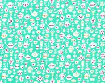 Liberty Fabric Suzy Elizabeth A Bright Green Tana Lawn Fat Quarter
