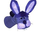 Purple Bunny Rabbit  Sock Puppet