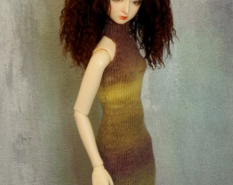 slim SD BJD handknitted dress Nightshade
