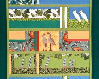 Zoo -- Custom Order Art Quilt
