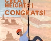 Scaling Great Heights Congratulations Card