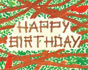 Happy Birthday Branches Card