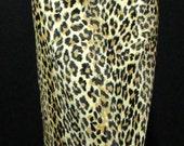 FUN! Great 1960s Faux Leopard Fur Pencil Skirt-L/XL