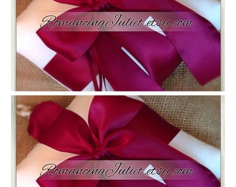 Pet Ring Bearer Pillow...SET OF 2...Made in your custom wedding colors...shown in ivory/burgundy
