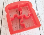 Puzzle Pieces Lunch Punch Sandwich Cutter  Cookie Cutter