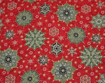 "One Yard of ""Christmas Love III"" Christmas Fabric by M'liss"