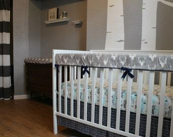 Custom Crib Teething Guard - Crib rail cover - Choose your fabric