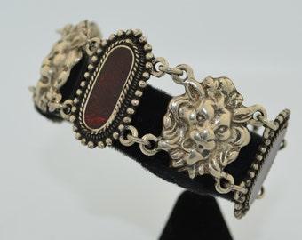 SALE Art Nouveau Revival Lion Toggle Bracelet