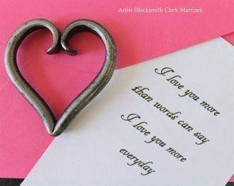 Valentine gift idea, Heart pendant, Iron heart, heart charm, birthday gift for girl friend , DIY heart necklace, last minuet gift idea
