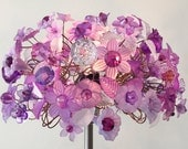 RESERVED Purple Spring Bouquet Table Lamp