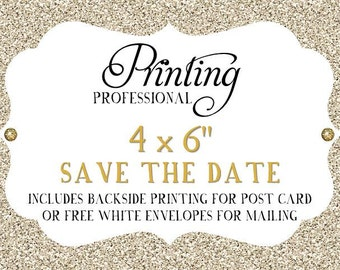 """Professional Printing Services - Save the Date 4x6"""""""