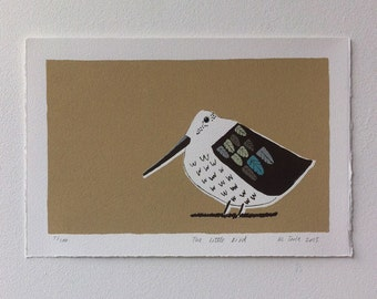 The Little Bird. Limited edition screenprint.