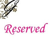 RESERVED listing for Annette J ONLY....set of 25 Classic, and XL Bows to be used for your crafts