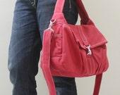 New Year SALE - 20% OFF Mini Classic in Red / Sling bag / Messenger / Crossbody Bags / Hobo / Handbags / Purses / For Her / Women / Kids