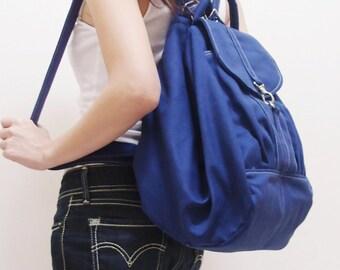 Back To School SALE - 20% OFF Essential in Royal Blue / Backpack / Satchel / Rucksack / Diaper Bag / Women / Shoulder Bag / Hers