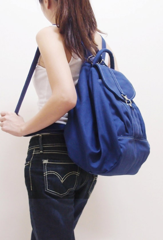 Back To School SALE - 20% OFF Essential in Royal Blue / Backpack / Satchel / Rucksack / Diaper Bag / Women / Shoulder Bag / Hers