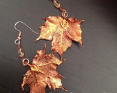 Copper Maple Electroplated Earrings by Denise Sloan